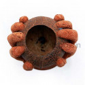 Coconut Husk Hand Vase