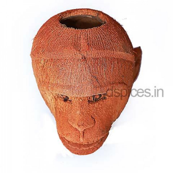 Coconut Monkey Vase