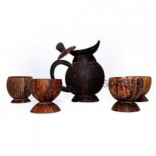 Coconut Shell Jug Set
