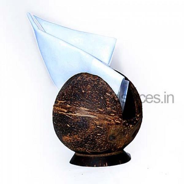 Coconut Shell Napkin Holder
