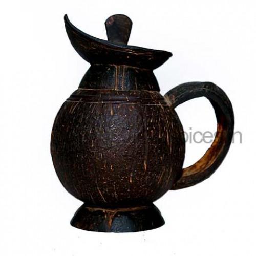 Coconut Shell Tea Jug